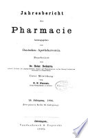 Jahresbericht der Pharmazie