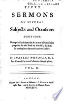 Fifty sermons on several subjects and occasions ...