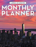 Large Academic Monthly Planner
