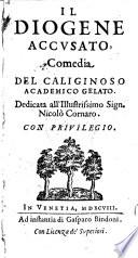 Il Diogene accusato  comedia