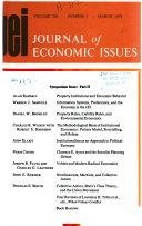 Journal Of Economic Issues book