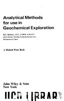 Analytical methods for use in geochemical exploration