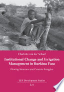 Institutional Change and Irrigation Management in Burkina Faso