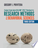 Student Study Guide With Ibm Spss Workbook For Research Methods For The Behavioral Sciences