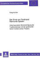 Der Ernst von Ferdinand Raimunds Spielen
