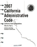 California Building Standards Administrative Code