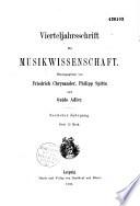 Vierteljahrsschrift für musik