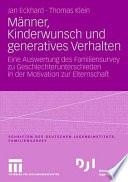 Männer, Kinderwunsch und generatives Verhalten