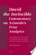David the Invincible, Commentary on Aristotle's Prior Analytics