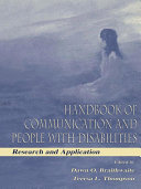 Handbook of Communication and People With Disabilities