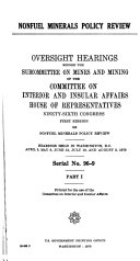 Book Hearings, Reports and Prints of the House Committee on Interior and Insular Affairs