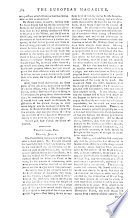 THE EUROPEAN MAGAZINE  AND LONDON REVIEW CONTAINING LITERATURE  HISTORY  POLITICS  ARTS  MANNERS  AND AMUSEMENTS OF THE AGE