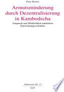 Armutsminderung durch Dezentralisierung in Kambodscha