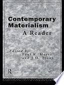 Contemporary Materialism