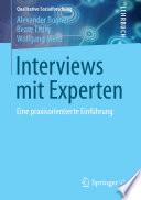 Interviews mit Experten