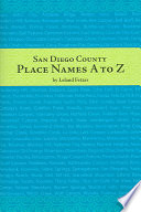 San Diego County Place Names  A to Z
