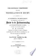 Over natuurlijke verbintenissen naar het Nederlandsch recht