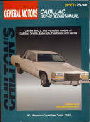Chilton S General Motors Cadillac 1967 89 Repair Manual