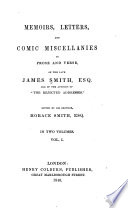 download ebook memoirs, letters, and comic miscellanies in prose and verse, of the late james smith pdf epub