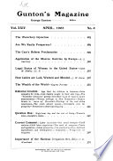 Gunton s Magazine of American Economics and Political Science