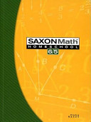 Saxon Math Homeschool 6 5