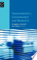 Transparency, Governance and Markets