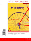 Trigonometry, Books a la Carte Edition