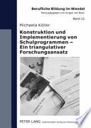 Konstruktion und Implementierung von Schulprogrammen