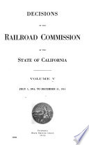 Decisions of the Railroad Commission of the State of California