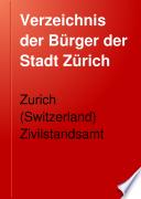 Verzeichnis der Bürger der Stadt Zürich