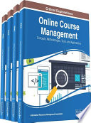 Online Course Management  Concepts  Methodologies  Tools  and Applications
