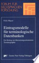 Eintragsmodelle für terminologische Datenbanken