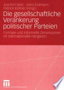 Die gesellschaftliche Verankerung politischer Parteien
