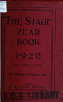 The Stage Year Book, with which is Included the Stage Periodical Guide