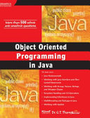Object Oriented Programming In Java  With Cd