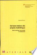 Dal Testo Italiano Alla Propia Madrelingua
