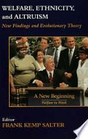 Welfare  Ethnicity and Altruism