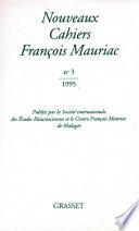 Nouveaux cahiers Fran  ois Mauriac