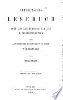Altdeutsches W  rterbuch