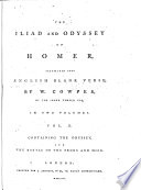The Iliad and Odyssey of Homer   The Odyssey and The battle of the frogs and mice