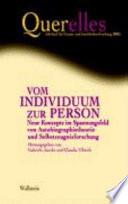 Vom Individuum zur Person