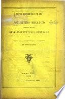 Bollettino decadico publicato per cura dell  Osservatorio centrale del Real collegio Carlo Alberti in Moncalieri