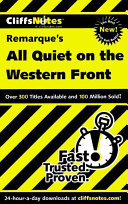 CliffsNotes on Remarque s All Quiet on the Western Front