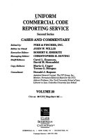 Uniform Commercial Code Reporting Service  Second Series