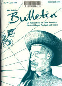British Bulletin of Publications on Latin America, the Caribbean, Portugal, and Spain