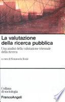 La valutazione della ricerca pubblica
