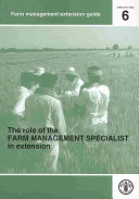 The Role of the Farm Management Specialist in Extension