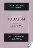 The Cambridge History of Judaism 2 Part Set  Volume 3  The Early Roman Period
