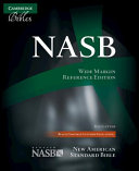 NASB Wide Margin Reference Bible  Black Edge Lined Goatskin Leather  Red Letter Text NS746 XRME