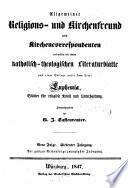 Allgemeiner Religions  und Kirchenfreund und Kirchencorrespondent